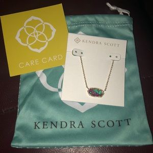 NWT Kendra Scott Elisa Kyocera Opal Necklace